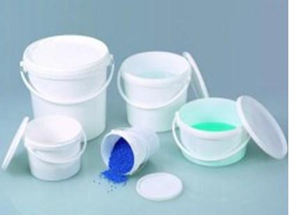 Slika za Buckets white with lid, PP