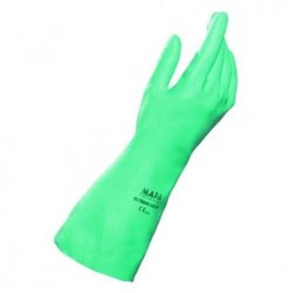 Slika za rukavice za kemijsku zaštitu nitril m 8 vel zelene 320mm 1par