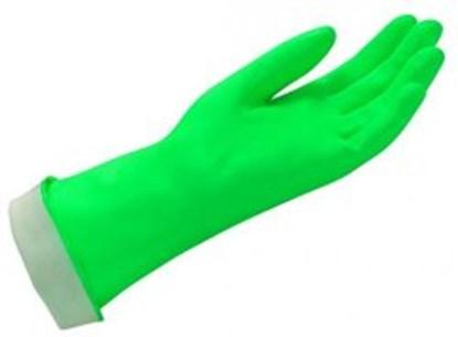 Slika za rukavice za kemijsku zaštitu nitril s 7 vel zelene 320mm 1par