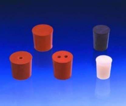 Slika za rubber stoppers red 8mmfi base diam