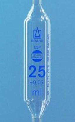 Slika za pipeta trbušasta staklo 0,5ml jedna oznaka klasa as graduirana plavim+usp cert.