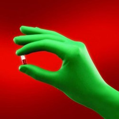 Slika za rukavice neopren bez pudera 6,5 vel zelene 310mm sterilne 1par