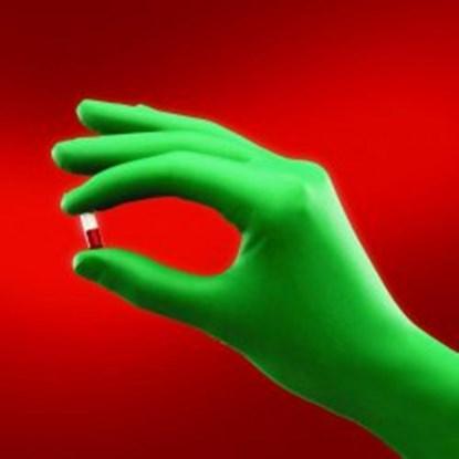 Slika za rukavice za kemijsku zaštitu neopren bez pudera 7 vel zelene 310mm sterilne 1par