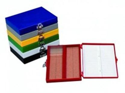 Slika za kutija za mikroskopska stakalca 50-mjesta crvena