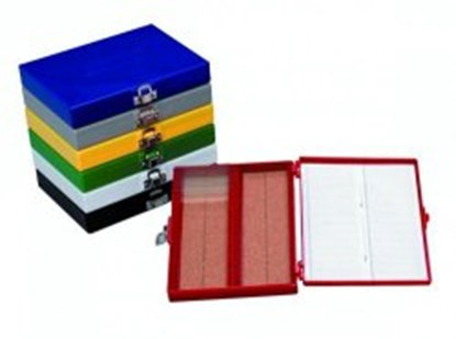 Slika za kutija za mikroskopska stakalca 100mjesta crvena