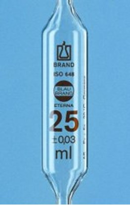 Slika za Volumetric pipettes, AR-glas<SUP>®</SUP>, class AS, 1 mark, amber graduation