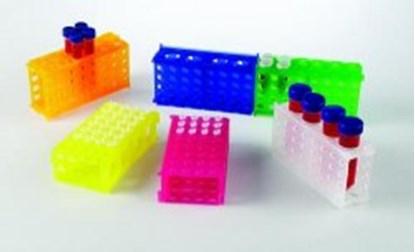 Slika za stalak pp za epruvete 15 i 50ml/mikroepruvete 0,5 i 1,5ml 4-strane narančasti