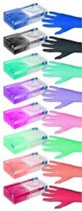 Slika za rukavice nitril bez pudera m 7-8 vel roze pink pearl nesterilne pk/100