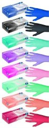 Slika za rukavice nitril bez pudera s 6-7 vel boja breskve peach pearl nesterilne pk/100