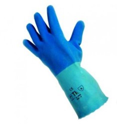 Slika za rukavice za kemijsku zaštitu lateks 8 vel plave pro-fit 6240 1par