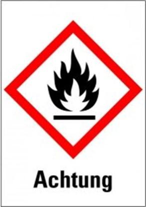 """Slika za hazardous material symbols """"warning: ign"""