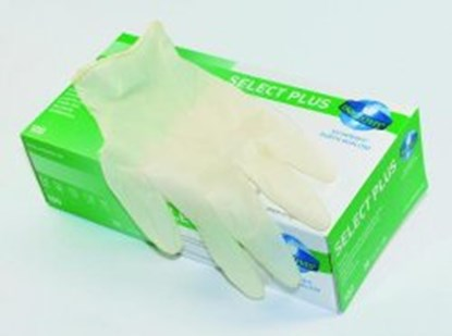 Slika za rukavice lateks bez pudera m 7-8 vel bijele pk/100