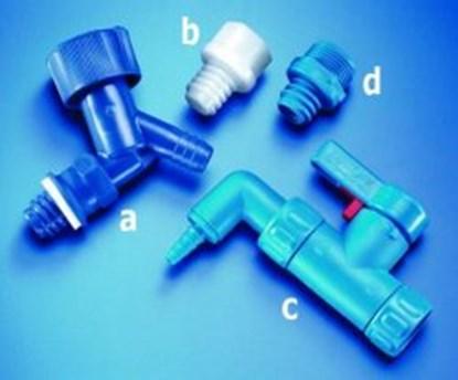 Slika za adapter ldpe plavi za čep za karnister serije 350