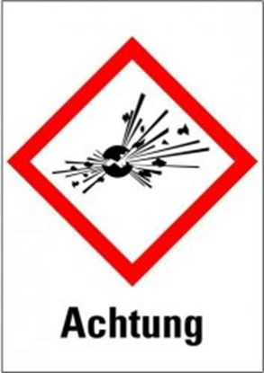"""Slika za hazardous material symboly """"warning of e"""