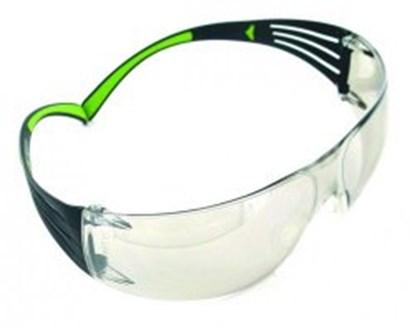 Slika za naočale zaštitne leće pc sive/okvir crno-zeleni