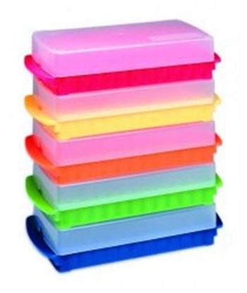 Slika za kutija pp 96mjesta za 0,5ml + 96mjesta za 1,5/2,0ml mikroepruveta, roza