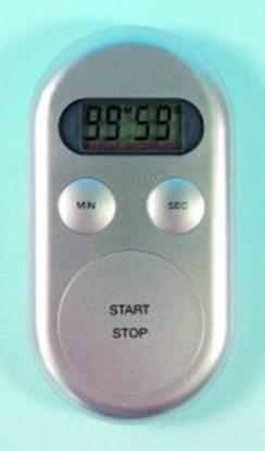 Slika za tajmer/štoperica s alarmon digitalni srebrni + baterije