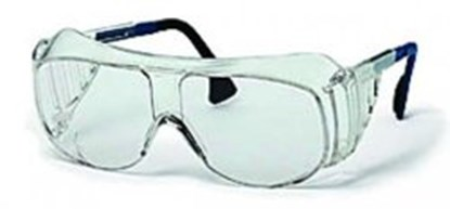 Slika za naočale zaštitne leće bistre/okvir plavo-crni