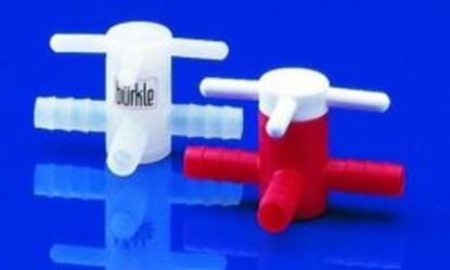 Slika za ventil pe/pp trosmjerni otvor 6mm za crijevo 7-9mm