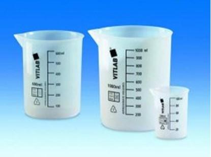 Slika za čaša etfe niska 100ml graduirana crnim