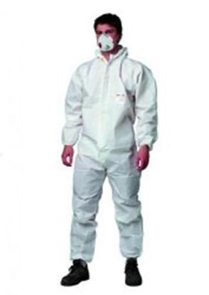Slika za kombinezon zaštitni pp 3-slojni xl + kapuljača i patent zatvarač bijeli pk/5