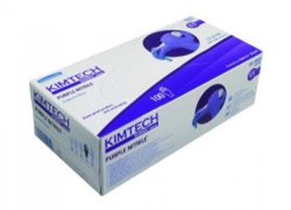 Slika za rukavice nitril bez pudera m 7-8 vel ljubičaste 240mm purple nitrile pk/100