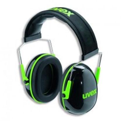 Slika za štitnici za uši crno-zeleni uvex k1