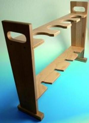 Slika za stalak drveni za imhoff lijevak 2 mjesta