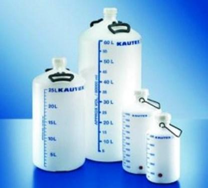 Slika za boca aspirator pehd + čep + ručka 10l ug fi 50mm graduirana