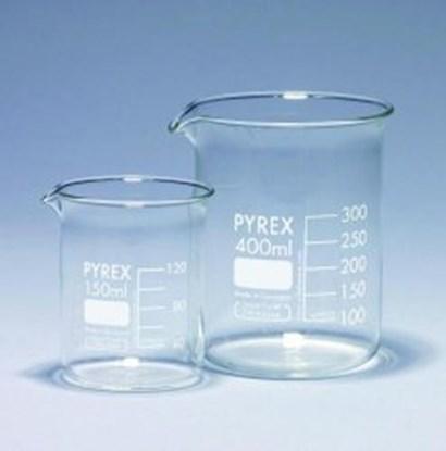 Slika za čaša staklo pirex niska 25ml graduirana bijelim pk/10