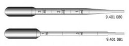 Slika za pipete pasteur pe 1ml 150mm graduirane sterilne pojedinačno pk/1000