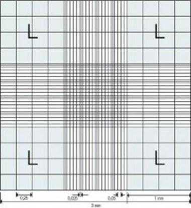 Slika za komorica za brojanje neubauer 0,1mm s klipsom