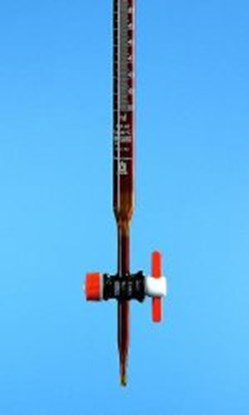 Slika za bireta ravni pipac smeđa 50ml schellbach ptfe čep klasa b