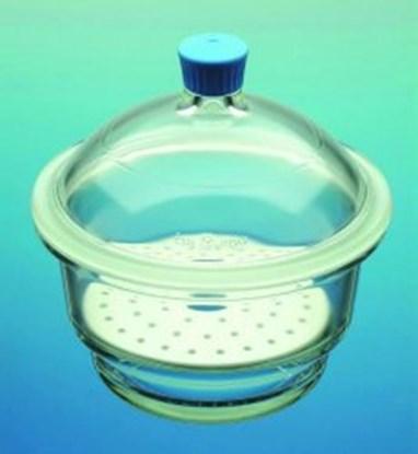 Slika za eksikator staklo fi250mm poklopac bez tubusa + porculanska ploča