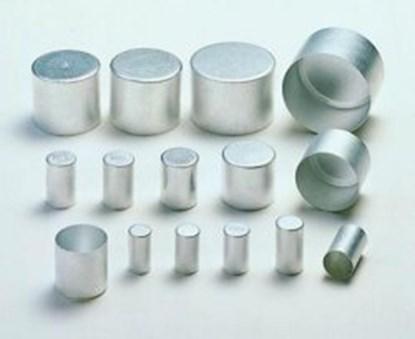 Slika za alu caps,aluminium,13x25mm high,pack/100