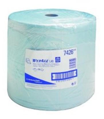 Slika za maramice 315x340mm celuloza/lateks perforirane bijele u roli od 750kom