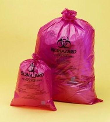 Slika za vreće pp otpad 970x1220mm biohazard crvene pk/100