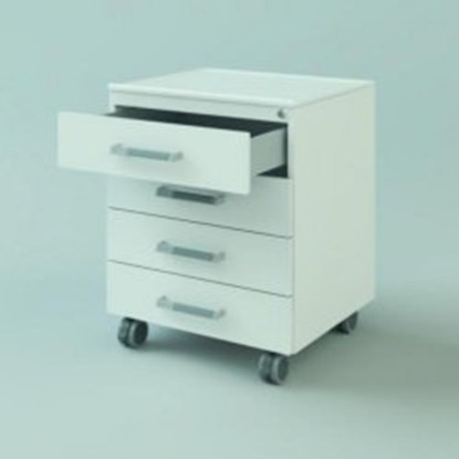 Slika za u/b mobile cabinet, 450x740x516, 4 drawe