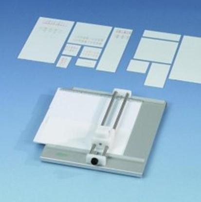Slika za rezač staklenih tlc ploča s reznim prstenom i predloškom