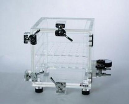 Slika za eksikator vakuum akril tip vakuum-1 260x260x260mm + mjerač vakuuma