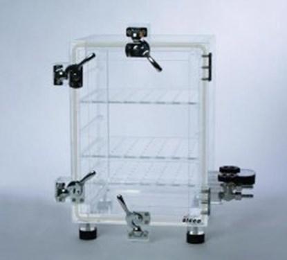 Slika za eksikator vakuum akril tip vakuum-2 260x260x360mm + mjerač vakuuma