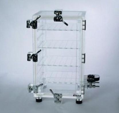 Slika za eksikator vakuum akril tip vakuum-3 265x260x460mm + mjerač vakuuma