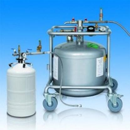 Slika za autofill sa ln2 50l spremnikom i sigurnosnim ventilom
